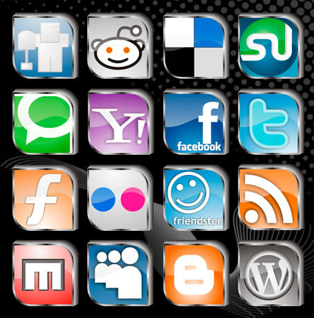 Social Site Icons by rohman24