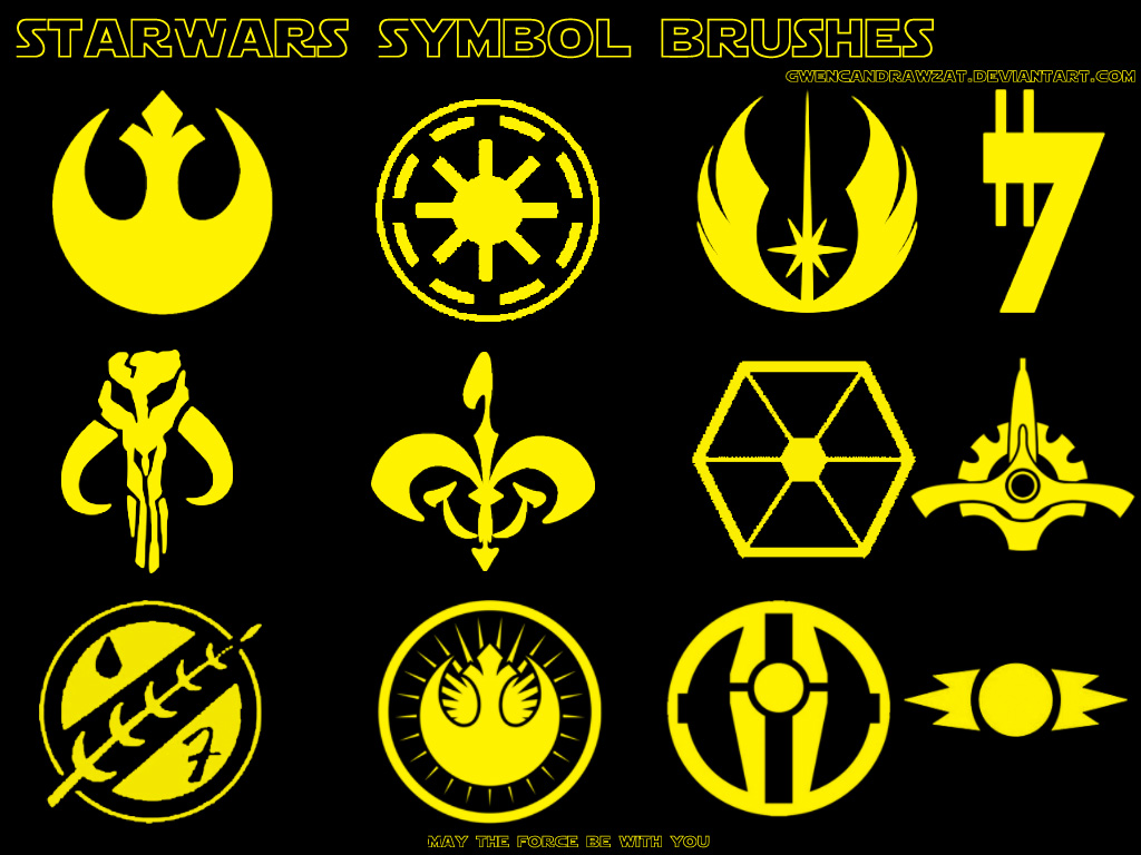 Star Wars Symbol Photoshop Brushes by GwenCanDrawZat