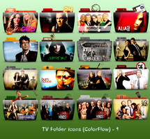 TV Folder Icons ColorFlow . Set 1 by ashtray4241