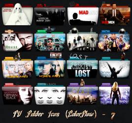 TV Folder Icons ColorFlow . Set 7