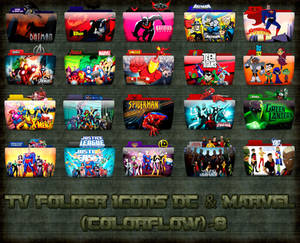 TV Folder Icons (DC and Marvel) ColorFlow . Set 8