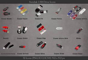 Sandisk USB Drive Icons