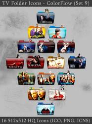 TV Folder Icons ColorFlow . Set 9
