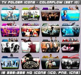 TV Folder Icons ColorFlow . Set 10