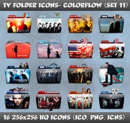 TV Folder Icons ColorFlow . Set 11