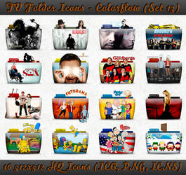 TV Folder Icons ColorFlow . Set 13
