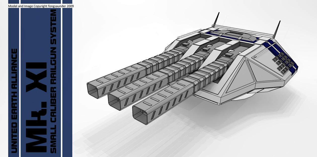 Mk XI Small Caliber Railgun by fongsaunder