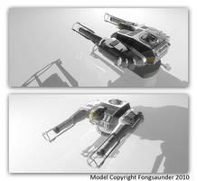 Retcon Battlestar Gun Battery by fongsaunder