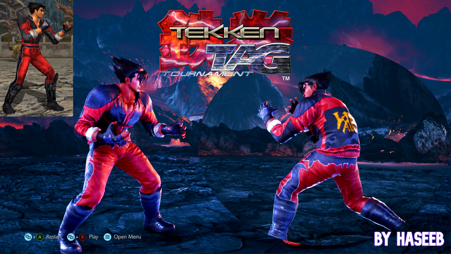 Tekken Tag 1 Jin Mod For Devil Jin Red Costume By Haseeb I On