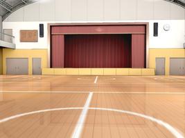 MMD HQ School Gym stage download by saler1