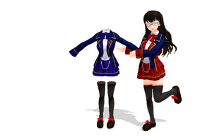 MMD Saler1's School Outfit Download by saler1