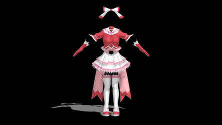 Magical Girl outfit 2 dl MMD by saler1