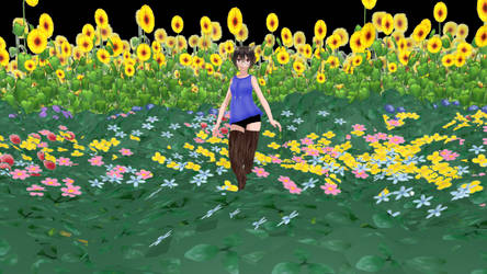 MMD Flower Field dl by saler1 by saler1