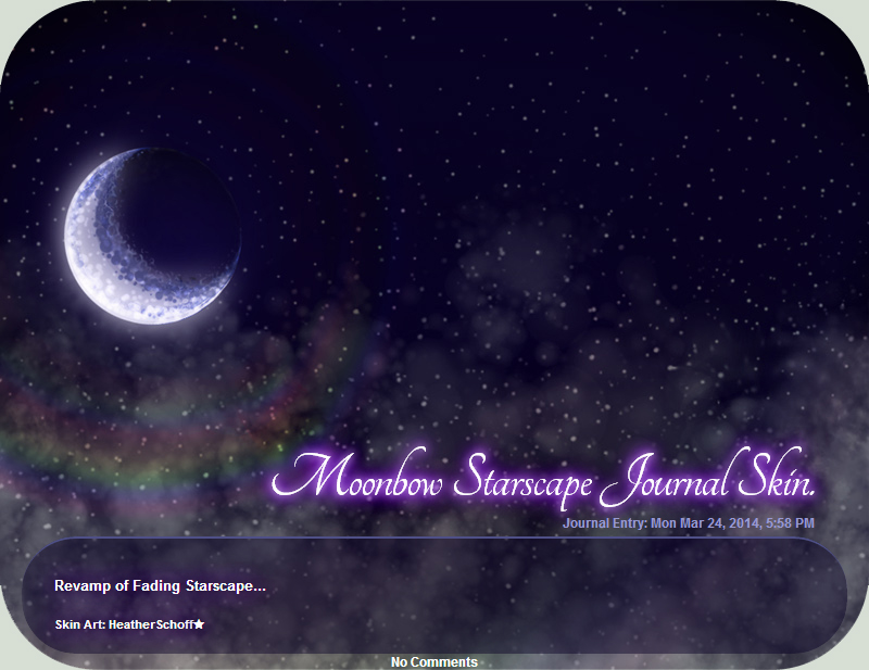 Moonbow Starscape Journal Skin. by Zaellrin