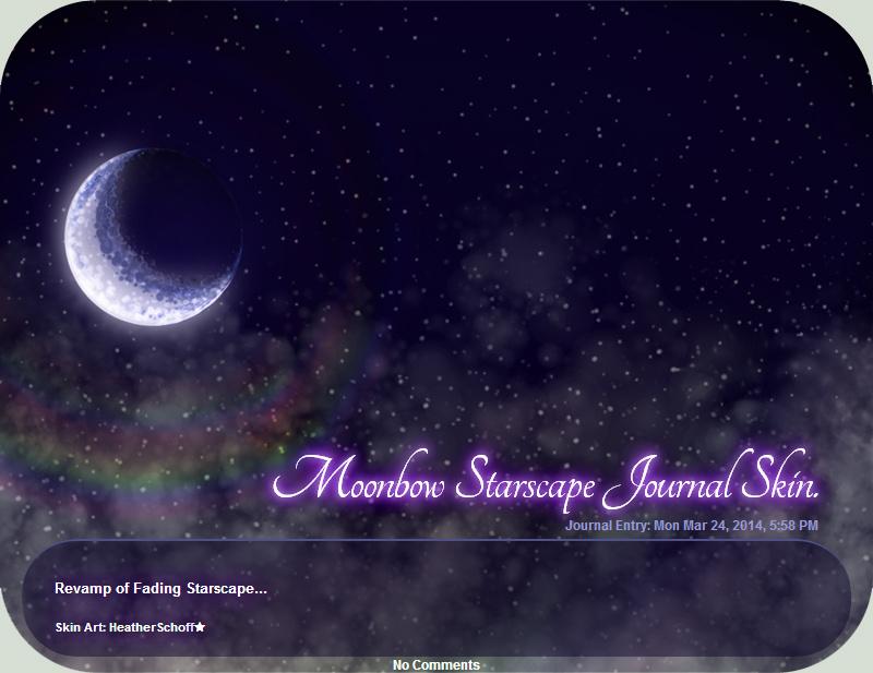 Moonbow Starscape Journal Skin. by HeatherSchoff