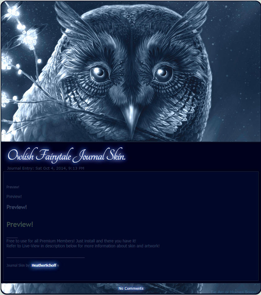 Owlish Fairytale Journal Skin. by Zaellrin