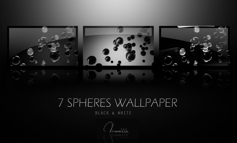 7 SPHERES WALLPAPER black and white by ilyaufo