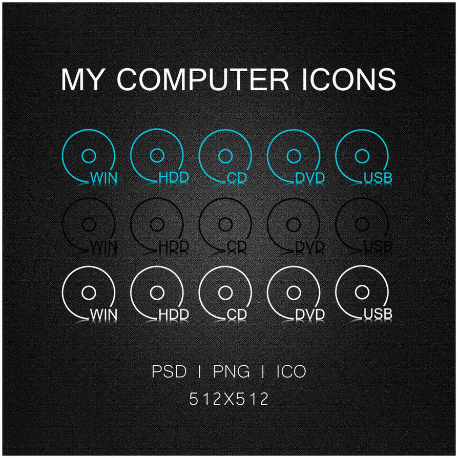 MY COMPUTER ICONS by ilyaufo