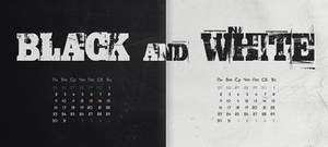 BLACK and WHITE Calendar RUS and ENG version