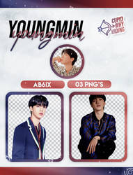 YOUNGMIN (AB6IX) B:COMPLETE - PNG PACK by cupidwhyhiding