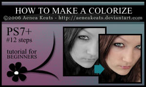 HOW TO MAKE A COLORIZE - Tut. by AeneaKeats
