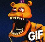 FNAFWORLD Nightmare Fredbear [GIF]