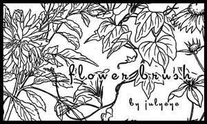 flower brush by julyeye