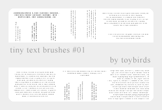 Tiny Text Brushes 01 by toybirds