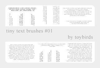 Tiny Text Brushes 01