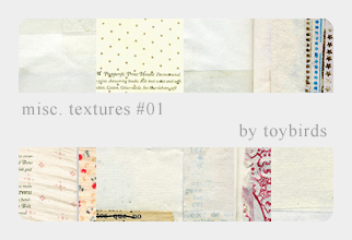 Misc. Textures 01 by toybirds