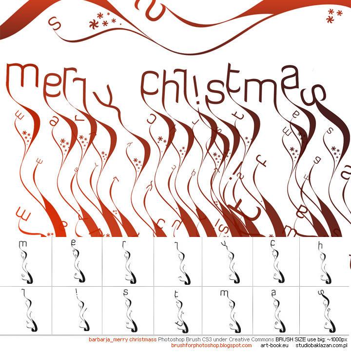 Merry Christmas PHshp Brushes by barbarja