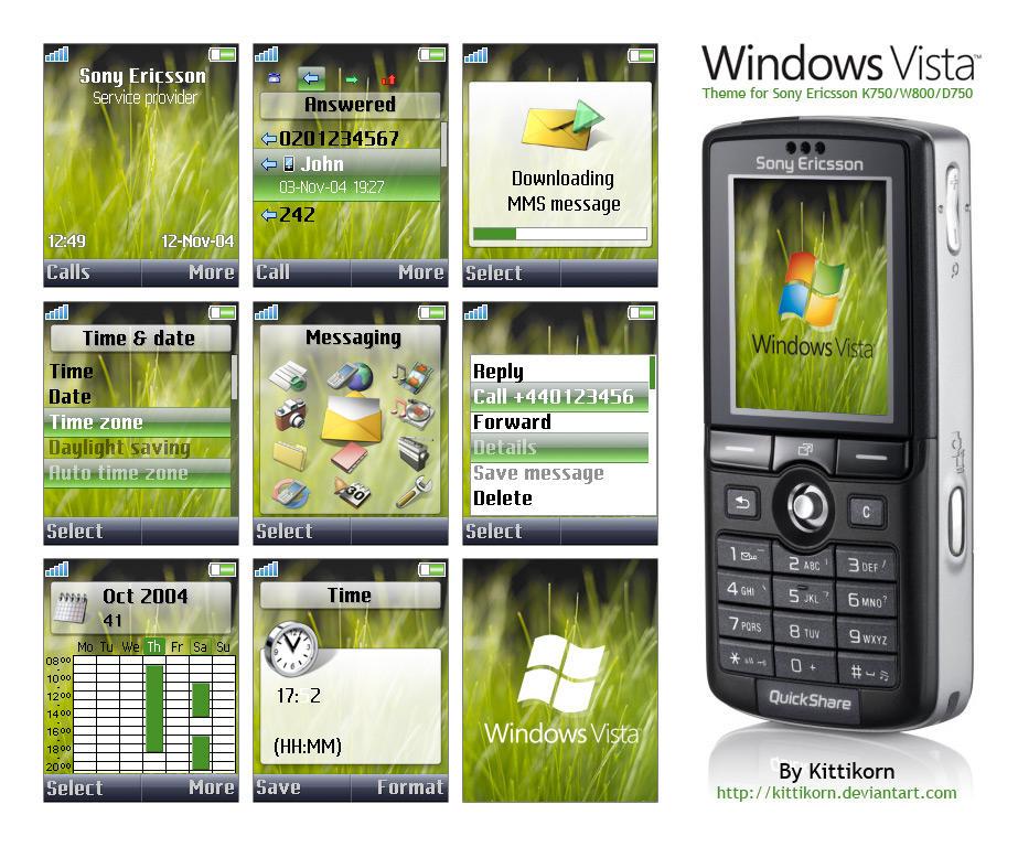 Windows Vista for K750-W800 by kittikorn