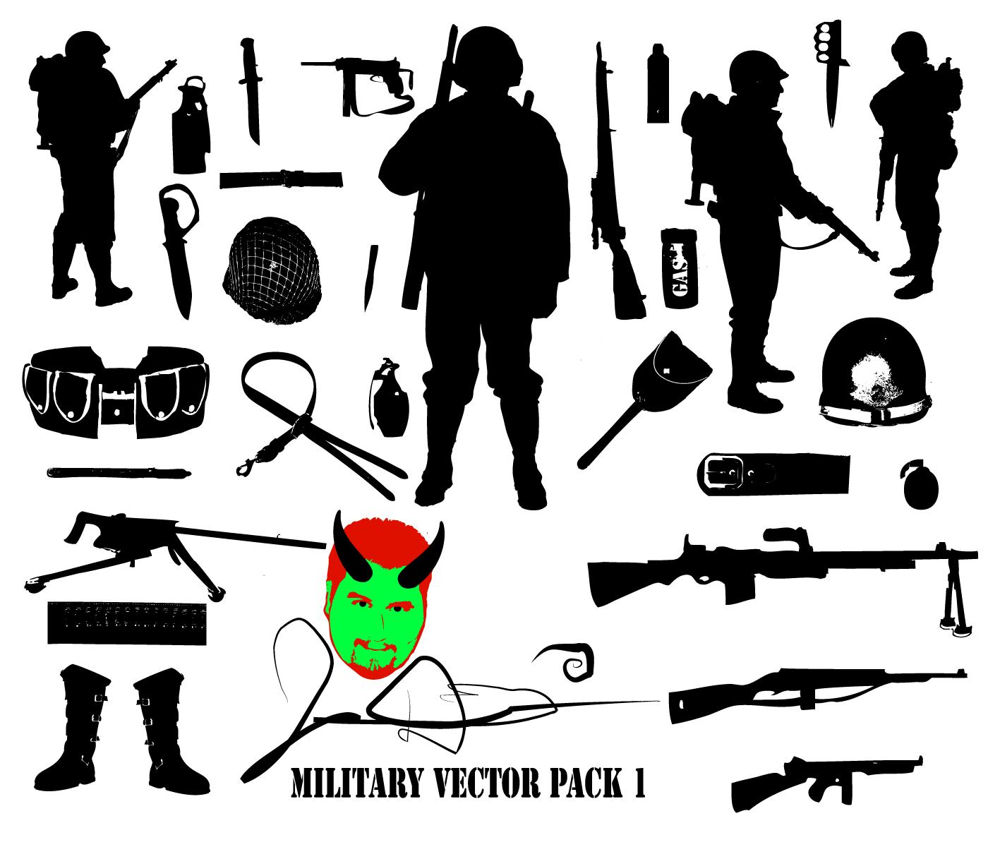 Military Vector Pack 1 by MaxDaMonkey