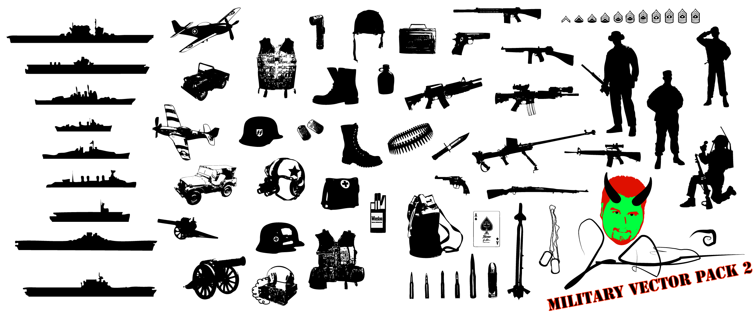 Military Vector Pack 2 by MaxDaMonkey
