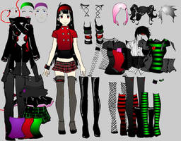 Goth Girlz dress up v.2
