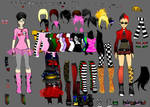 Emo vs. Punk dress up by shidabeeda
