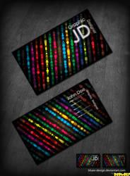Disco Business Card .PSD by BlueX-Design