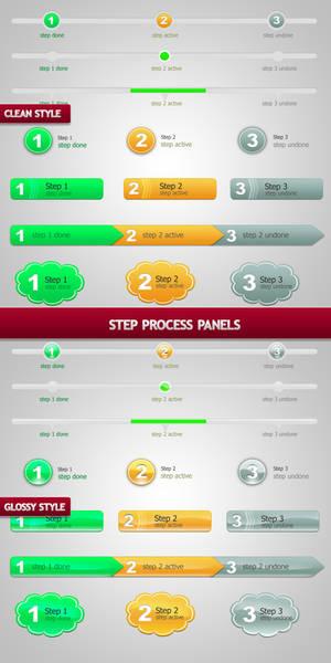 Step Process Panels Sets .PSD