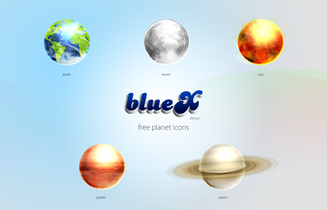 Free Planet Icons by BlueX-Design
