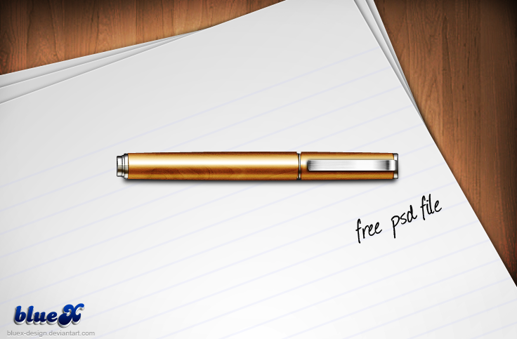 Pen Icon FREE PSD file by BlueX-Design