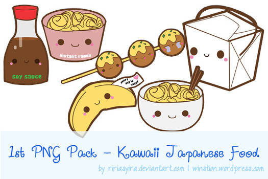 1st PNG Pack - Kawaii Japanese Food