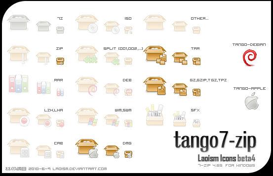 tango 7-zip icons b4 Preview