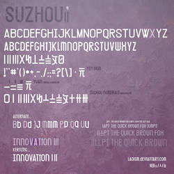 Suzhou2 numerals font by Laoism