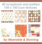 40 Scrapbook Icon Textures