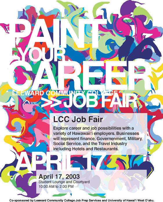 LCC Job Fair Poster by wastingtape