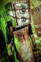 The Keeper (Boxman) costume closeup