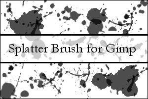 Gimp 2.2 Splatter Brush
