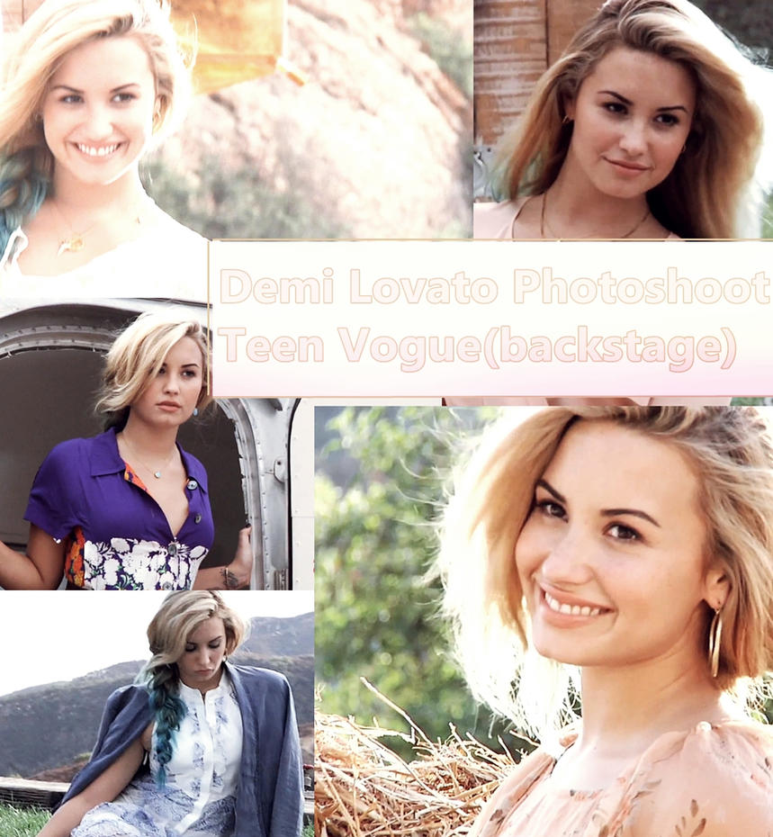 demi lovato photoshoot teen voguebackstage by deyry on