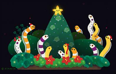 Christmas garden eel by pikaole