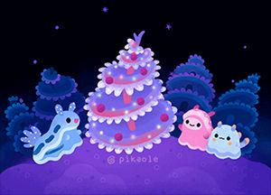 Merry christmas tree worm